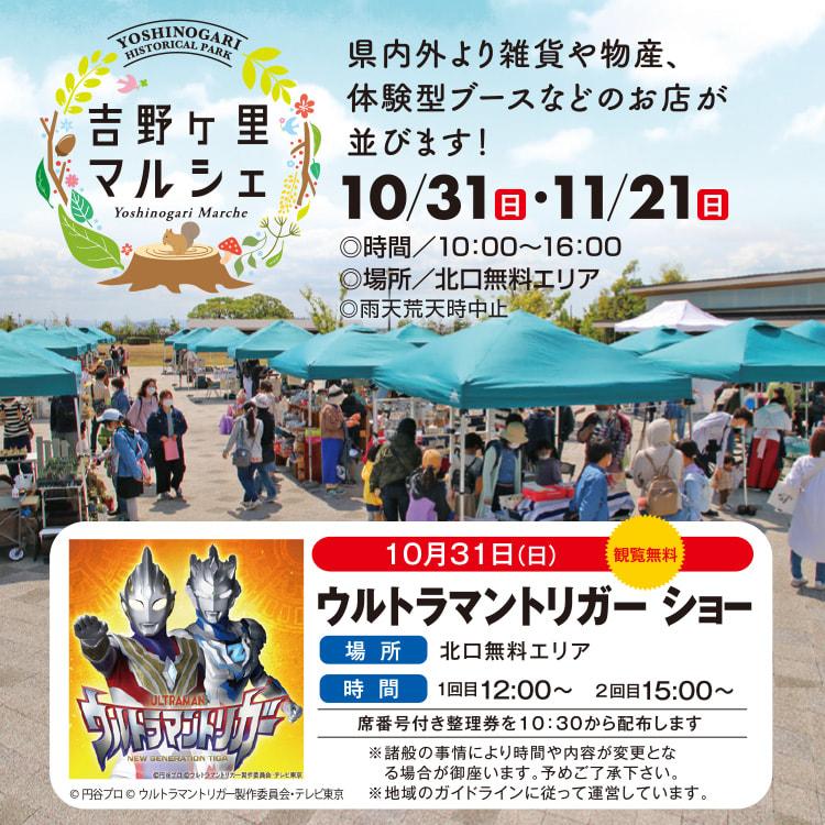 10月31日にはウルトラマントリガーショーを開催するマルシェ